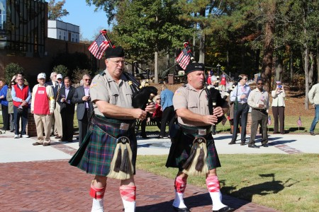 The Atlanta History Center's Veterans Day celebration includes bagpipers, a flag-raising ceremony and a keynote speech by Brig. Gen. John King of the Georgia National Guard.