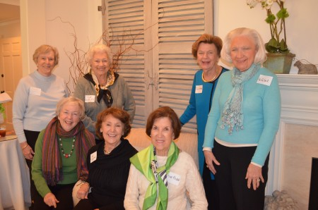 Members of the Ivy Garden Club of Atlanta will celebrate their club's 75th anniversay this year. Above, standing, left to right, Eleanor Beckham, Sue Mobley, Tish Redford, Martha Smith; seated, left to right, Llewellyn Bell, Faye Van Winkle, Sue Redd.