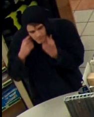 Video surveillance image of man who on Dec. 5 robbed the AM/PM store on Chamblee-Dunwoody Road. Image provided by Dunwoody Police Department.