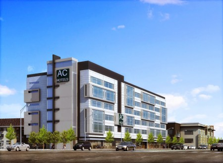 A rendering of the AC Hotel at Phipps.