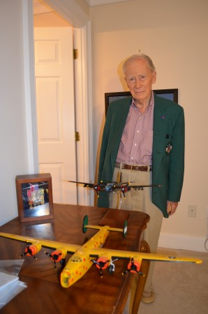 """""""Hap"""" Chandler, a Sandy Springs resident, said he didn't think he deserved """"this great honor."""""""