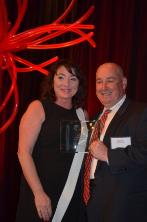 Jenny Levinson, at left,  of Souper Jenny restaurants, was named Entrepreneur of the Year during the BBA luncheon.