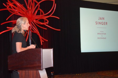Spanx CEO JanSinger spoke to nearly 300 Buckhead Business Association members and guests on Jan. 22 during the organization's 2015 luncheon, held at the JW Marriott Atlanta Buckhead hotel.