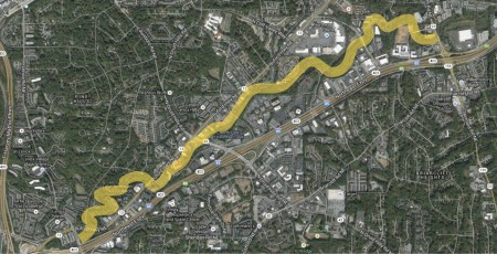 The North Fork linear park, consisting of a 2.7-mile portion of a path along Peachtree Creek, is heading into the planning stages.
