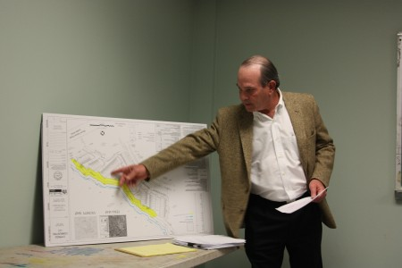 Cypress Communities developer Carl Westmoreland on Feb. 8 presents changes to an 81-townhouse proposal for the Dunwoody Village Parkway area. In December, members of the Dunwoody Homeowers Association heavily criticized this development and neighbors asked for many changes.