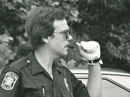 Steve Rose, now a police captain, directs traffic in 1982.