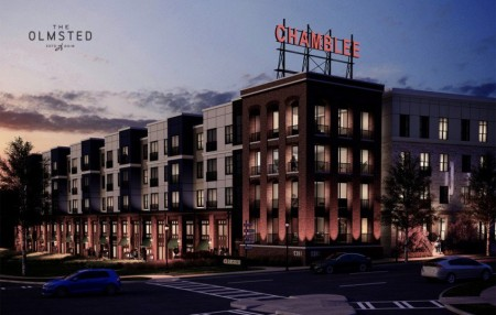 The Olmsted project, near the Chamblee MARTA station, will include one-, two- and three-bedroom apartments, restaurants and retail.
