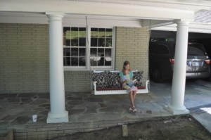 While Olivia Schramkowski says she has lots of friends in the neighborhood, she is also able to enjoy some quiet time.