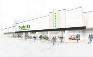 A rendering of the proposed Publix at Moores Mill Road.