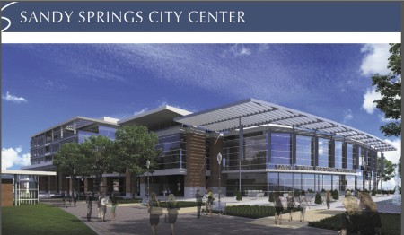 An illustration of part of the future redevelopment currently known as City Center.