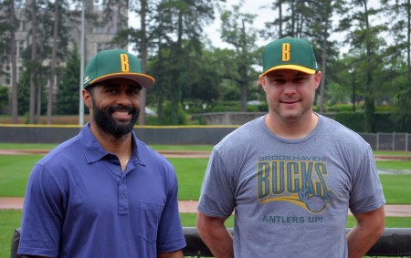 Brookhaven Bucks Coach Corey Patterson and General Manager Brad Dickison