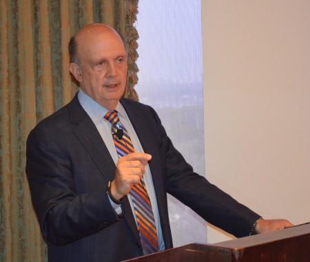 Steve Labovitz talks to members of the Buckhead Business Association on July 30, 2015.