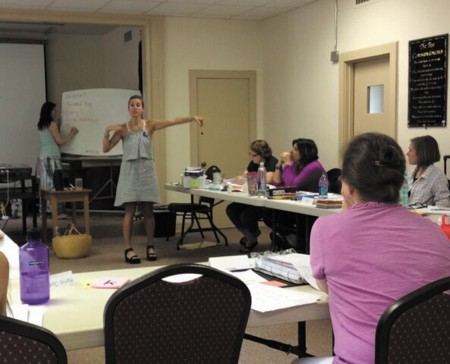 REAP co-founder Carla Stanford teaches a class.