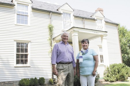 Jim Williams, vice president of properties with the Dunwoody Preservation Trust, and Clare Weaver, a director of the Donaldson-Bannister Farmhouse, are anxiously awaiting completion of a stabilization project so the historic home, built in 1870, can open to the public.