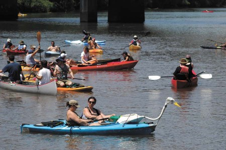 Boaters in the Back to the 2013 Chattahoochee River Race and Festival, one of many modern recreational events following the former Ramblin' Raft Race. (File Photo)