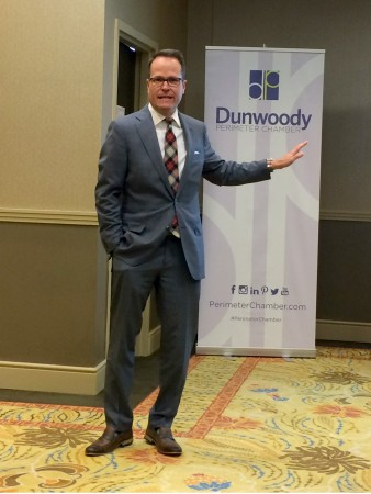 President and CEO of Georgia Chamber of Commerce Chris Clark during a luncheon for the Dunwoody Perimeter Chamber on Oct. 27.