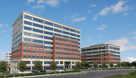 The 3.7-acre NorthPlace site would be anchored by two office towers.