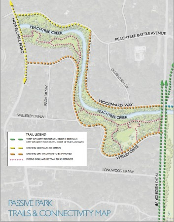 Consultants working for the Atlanta Memorial Park Conservancy have suggested removing some trees and adding concrete trails and foot bridges to the park.