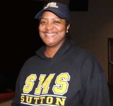 Vernetta Head, who has a 13 year-old son attending Sutton Middle School, said it is important to her to have North Atlanta High School provide information on its athletic programs. (Photo by Dyana Bagby)