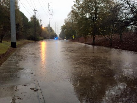 Brookhaven police officers at about 8:30 a.m. Nov. 2 were on the scene at Redding Road between Peachtree and Caldwell roads in reference to flooding.
