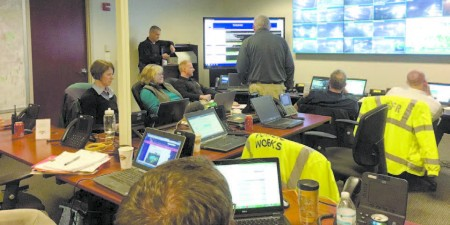 The city of Sandy Springs has its own traffic management center.