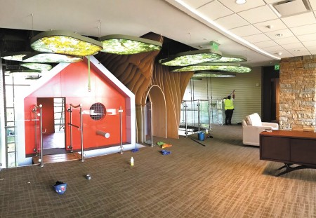 """The """"treehouse"""" inside the new Ronald McDonald House in Pill Hill. Photo Randy Maxwell"""