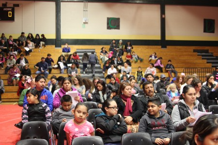 Hundreds of parents gathered this month to learn about Cross Keys cluster redistricting. (Photos by Dyana Bagby)