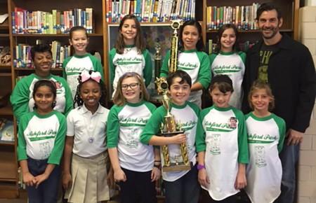 2016 Ashford Park Elementary School Reading Bowl Team