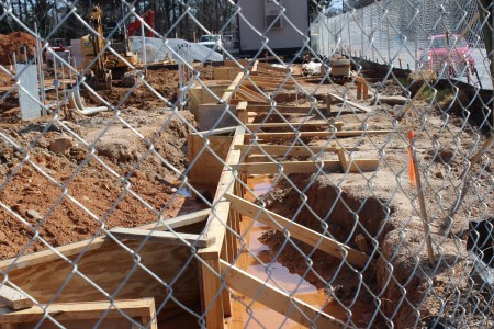 Construction is taking place at the future Walgreens site at the corner of Peachtree Street and Colonial Drive.