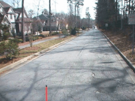 Brookhaven Drive has a paving condition index of 41, considered poor.