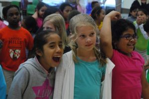 """Garden Hills Elementary School; Tuesday May 3, 2016 11:30am. Garden Hills International Travelers Week, """"Travel to Mexico"""" the week of May 2nd through May 6th. Student will learn traditions, cultures, and history of the people of Mexico by making art, eating traditional foods, and experiencing performance art. Students decorated the halls of the school with art."""