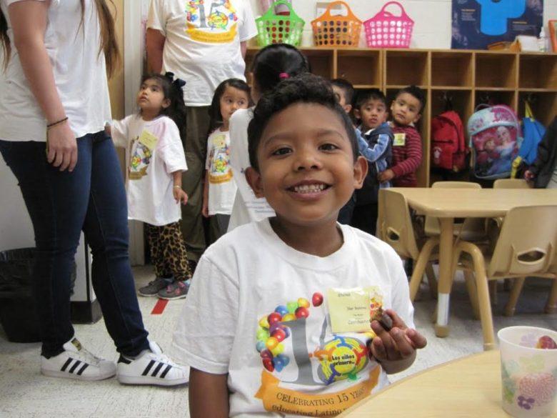 "Iker Ramirez, 3, is a big fan of Los Ninos Primero's Saturday School. ""I like to play. I like to read books. I like the Berenstain Bears,"" he said. [FYI: Iker's birthday is May 11.]"