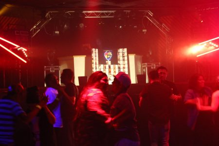 Dancers enjoy the music at a recent Latino LGBT night at Club Rush on Buford Highway. (Photo Dyana Bagby)