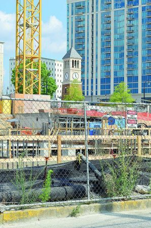 New towers are rising near irby Avenue.