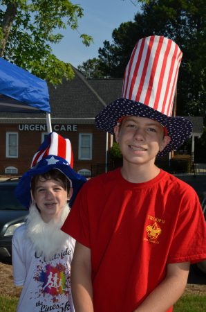 Jeremy Mallard, 9, and Nicholas Mallard, 12, dressed the part of Uncle Sam for the Dunwoody 4th of July Parade.