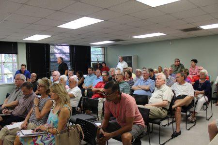 DHA members listen to Mayor Denis Shortal. (Photo Dyana Bagby)