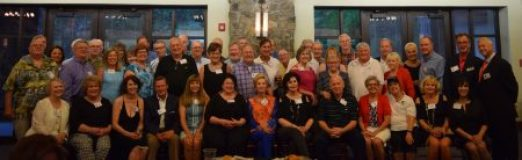 The Sandy Springs High School Class of 1966, along with friends and family, pose during their 50th reunion Aug. 19 at Heritage Sandy Springs. (Photo Jaclyn Turner)