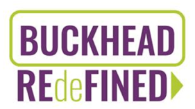 """The logo of the """"BUCKHEAD REdeFINED"""" master plan."""
