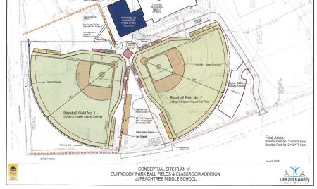 Concept plans for new baseball fields at Peachtree Charter Middle School (City of Dunwoody)