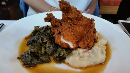 The fried chicken.
