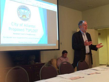 Tom Weyandt briefs the Buckhead Council of Neighborhoods on the upcoming TSPLOST referendum.