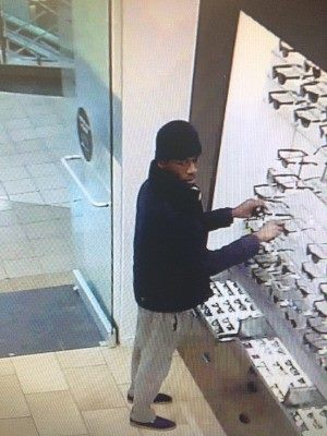 Suspect in stealing more than $8,200 in Ray Ban sunglasses from Perimeter Mall. (Dunwoody Police Department)