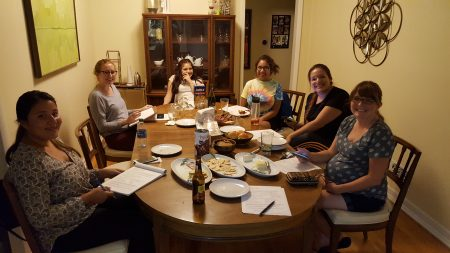Members of  La Comunidad de Buford Highway (Buford Highway Apartment Association) held its first meeting in September and plans to officially launch next month. From left are Crystal Muñoz of the Latin American Association; Ali Brunner of Park Towne North Apartments; Gisela Avila, Doraville resident; Lili Cortes of Brookstone Brookhaven apartments; Dalia Alvarez, Cross Keys High School alumnus and property manager at Foxwoods Apartments; and Ruthie North of Huntington Creek Apartments. (Special)