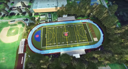 A rendering of the planned new football and multi-use field at Dunwoody High School.