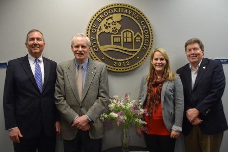 Members of the city of Brookhaven's first Audit Committee are, from left, Tim Tripp, Mike Harreld, Susan Nichols, Norman McKay. (City of Brookhaven)