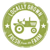 Locally grown fresh from the farm