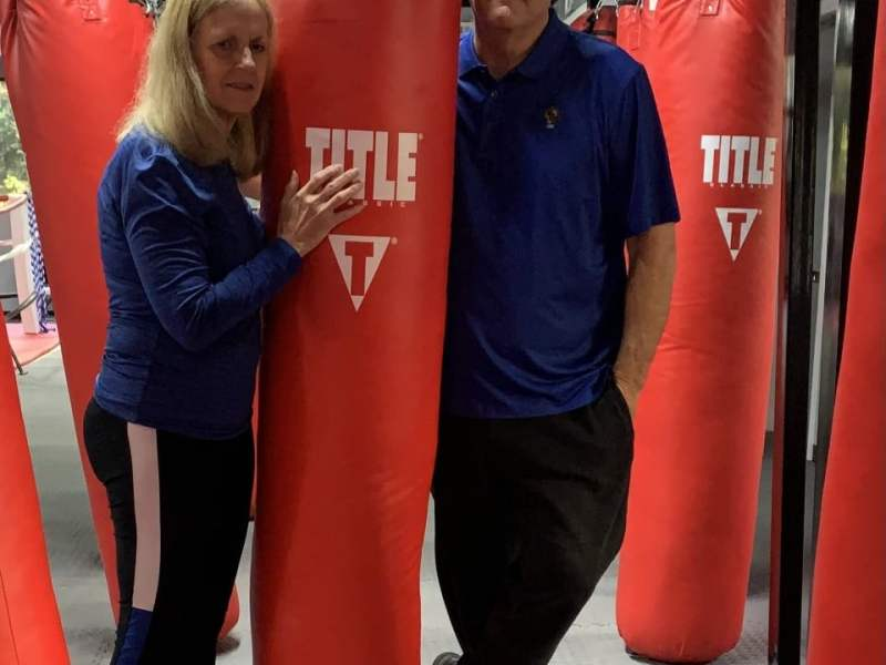 Chairman Denise Formisano and Director of Operations Tom Jeffrey of the Livramento Delgado Boxing Foundation