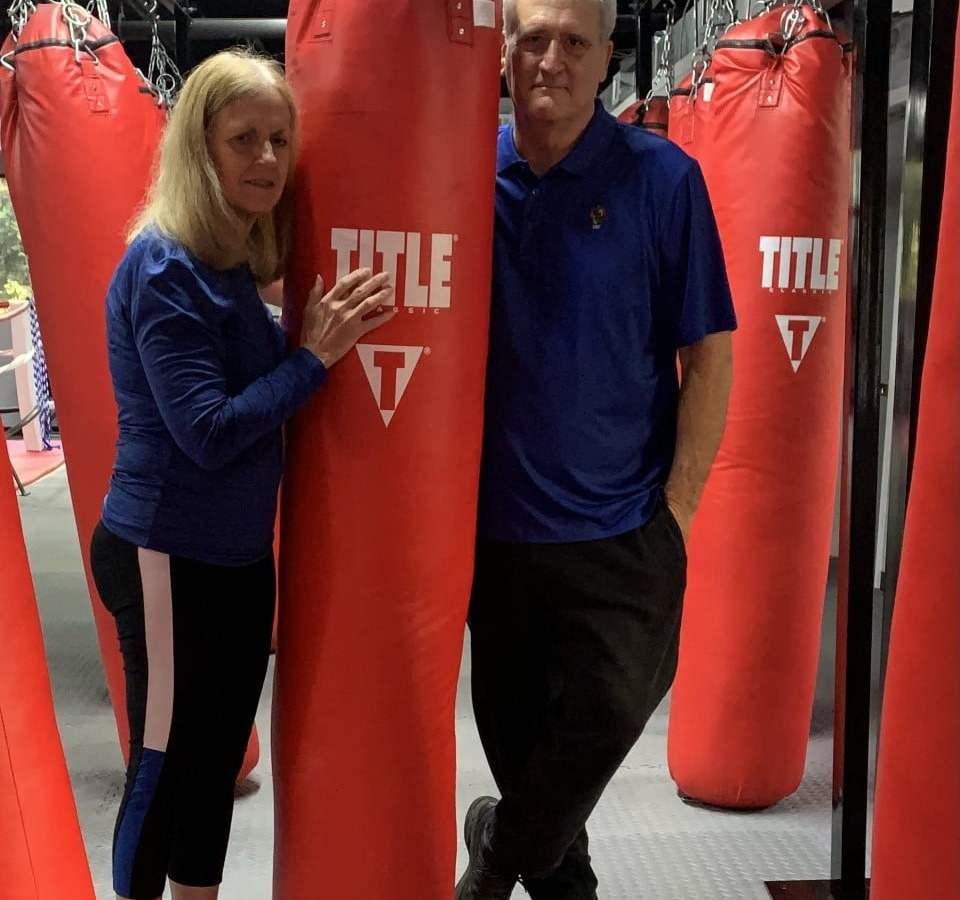 Chairman Denise Formisano and Director of Operations Tom Jeffrey of the Livramento Delgado Boxing Foundation
