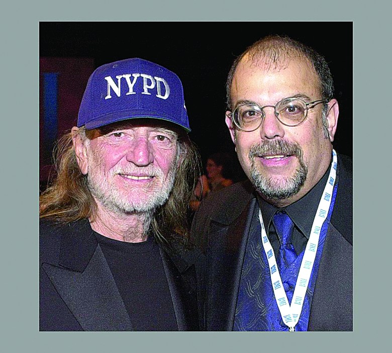 Willie Nelson (L) and Rick Diamond