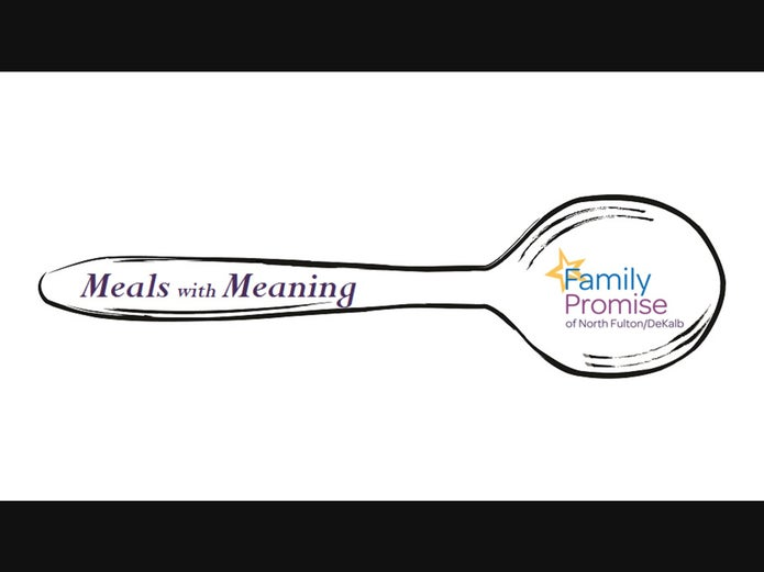 """Family Promise """"meals with meaning"""" fundraiser logo"""